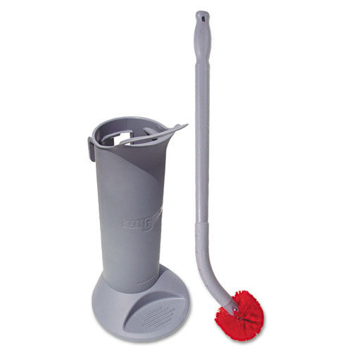 Ergo Toilet Bowl Brush Complete: Wand, Brush Holder & 2 Heads | by Plexsupply