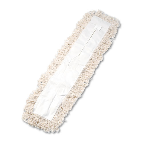Boardwalk® Industrial Dust Mop Head, Hygrade Cotton, 36w x 5d, White