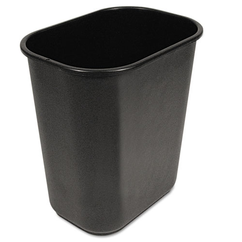Boardwalk® Soft-Sided Wastebasket, 14 qt, Plastic, Black