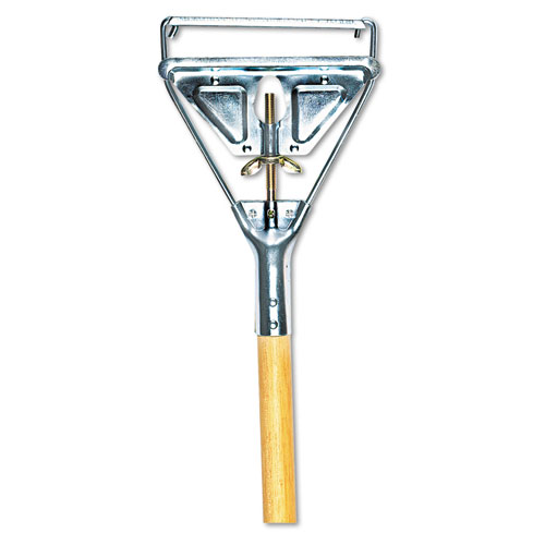Quick Change Metal Head Mop Handle for No. 20 & Up Heads, 54in Wood Handle | by Plexsupply