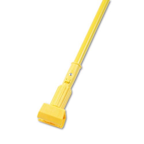 Plastic Jaws Mop Handle for 5 Wide Mop Heads, 60 Aluminum Handle, Yellow