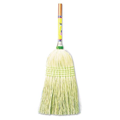 "Parlor Broom, Corn Fiber Bristles, 55"" Wood Handle, Natural, 12/Carton | by Plexsupply"