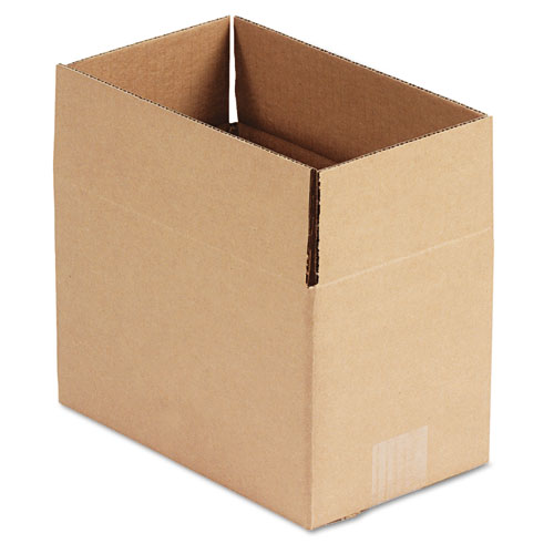 Fixed-Depth Shipping Boxes, Regular Slotted Container (RSC), 10 x 6 x 6, Brown Kraft, 25/Bundle