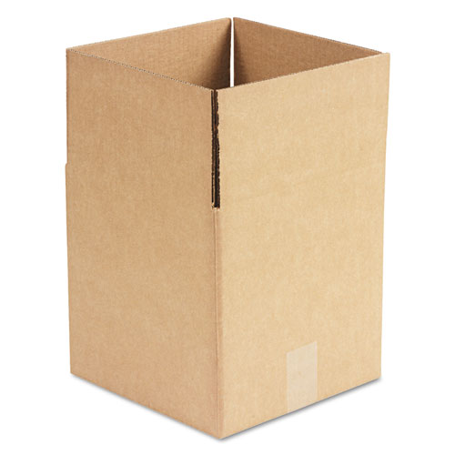 Cubed Fixed-Depth Shipping Boxes, Regular Slotted Container (RSC), 10 x 10 x 10, Brown Kraft, 25/Bundle