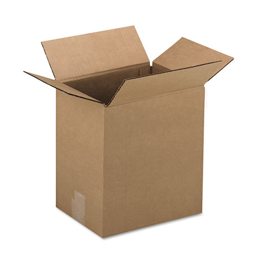 General Supply Brown Corrugated - Fixed-Depth Shipping Boxes, 12l x 9w x 3h, 25/Bundle