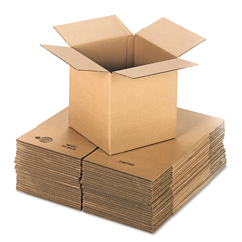 Cubed Fixed-Depth Shipping Boxes, Regular Slotted Container (RSC), 12 x 12 x 12, Brown Kraft, 25/Bundle