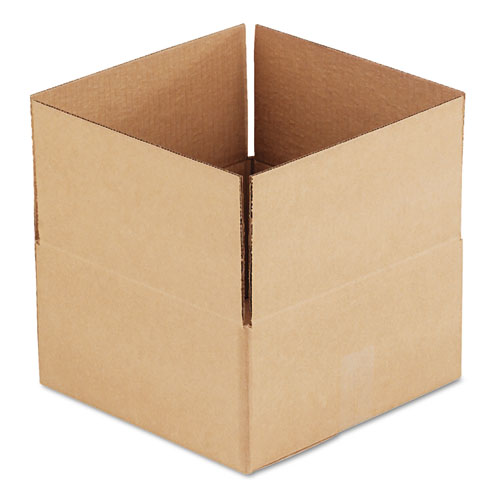 Fixed-Depth Shipping Boxes, Regular Slotted Container (RSC), 12 x 12 x 6, Brown Kraft, 25/Bundle