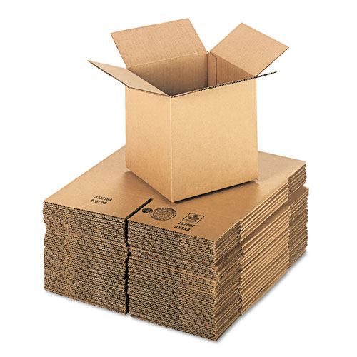 Cubed Fixed-Depth Shipping Boxes, Regular Slotted Container (RSC), 8 x 8 x 8, Brown Kraft, 25/Bundle