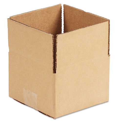 Fixed-Depth Shipping Boxes, Regular Slotted Container (RSC), 6 x 6 x 4, Brown Kraft, 25/Bundle