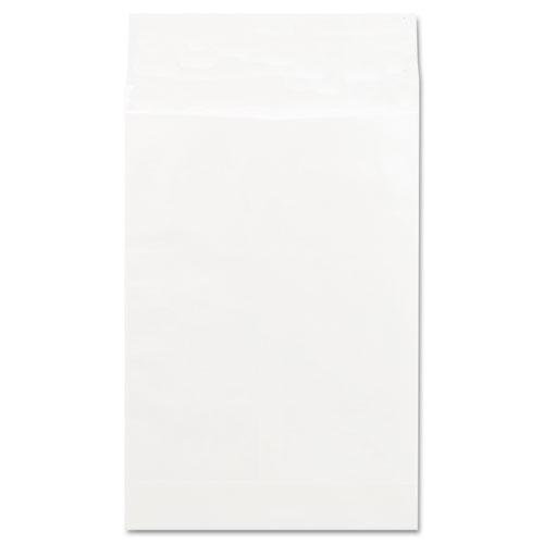 Deluxe Tyvek Expansion Envelopes, 15 1/2, Squa Flap, Self-Adhesive Closure, 12 x 16, White, 100/Box