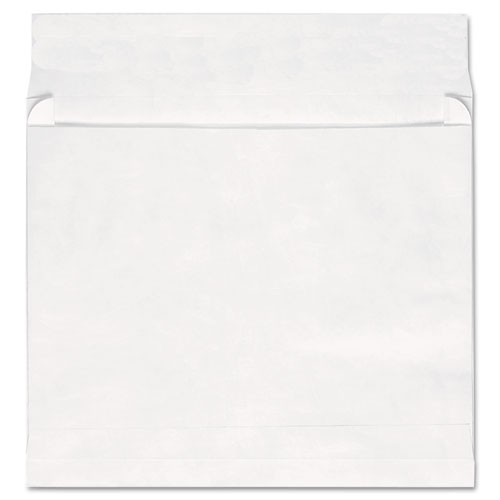 Deluxe Tyvek Expansion Envelopes, 13 1/2, Square Flap, Self-Adhesive Closure, 10 x 13, White, 100/Box