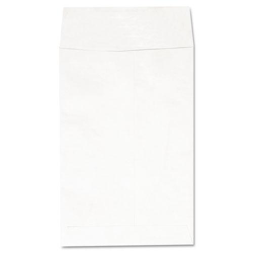 Deluxe Tyvek Envelopes, 1, Square Flap, Self-Adhesive Closure, 6 x 9, White, 100/Box