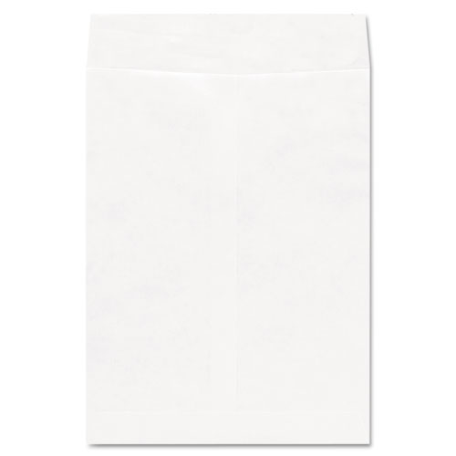 Deluxe Tyvek Envelopes, 10 1/2, Square Flap, Self-Adhesive Closure, 9 x 12, White, 100/Box