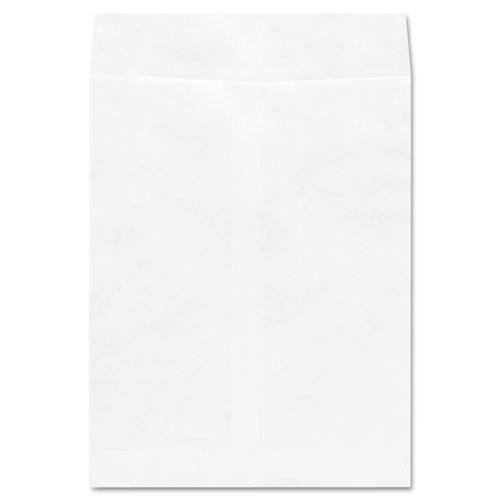 Deluxe Tyvek Envelopes, 13 1/2, Squar Flap, Self-Adhesive Closure, 10 x 13, White, 100/Box