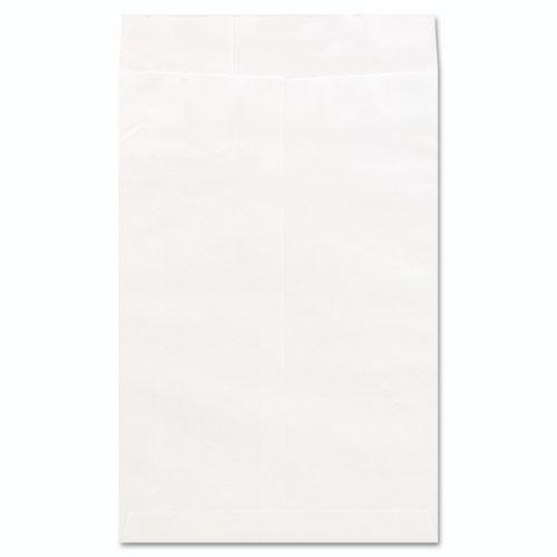 Deluxe Tyvek Envelopes, 15, Squa Flap, Self-Adhesive Closure, 10 x 15, White, 100/Box
