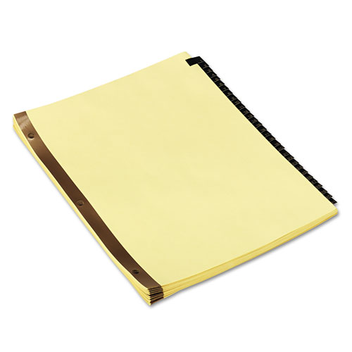 Deluxe Preprinted Simulated Leather Tab Dividers with Gold Printing, 31-Tab, 1 to 31, 11 x 8.5, Buff, 1 Set