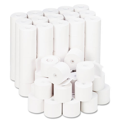 "Impact & Inkjet Print Bond Paper Rolls, 0.5"" Core, 2.25"" x 165ft, White, 100/Carton 