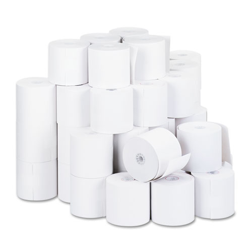"Impact & Inkjet Print Bond Paper Rolls, 0.5"" Core, 2.75"" x 190 ft, White, 50/Carton 