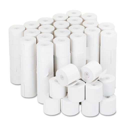 "Impact & Inkjet Print Bond Paper Rolls, 0.5"" Core, 2.25"" x 126ft, White, 100/Carton 