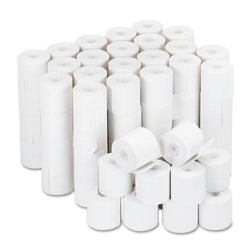 "Universal® Impact and Inkjet Print Bond Paper Rolls, 0.5"" Core, 2.25"" x 126 ft, White, 100/Carton"