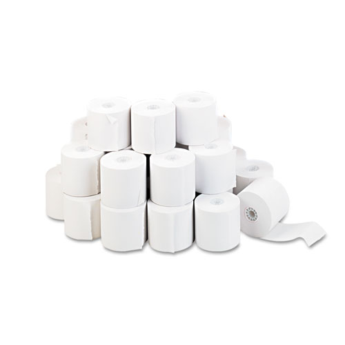 "Impact & Inkjet Print Bond Paper Rolls, 0.5"" Core, 2.25"" x 150ft, White, 100/Carton 