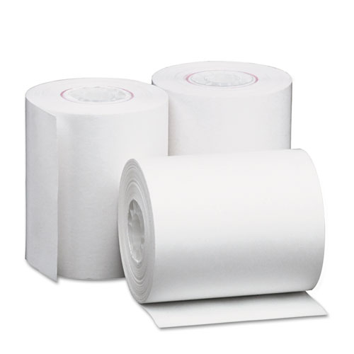 "Deluxe Direct Thermal Printing Paper Rolls, 2.25"" x 80 ft, White, 50/Carton 