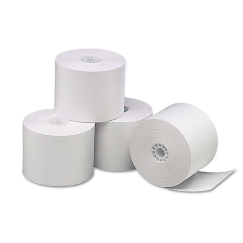 "Deluxe Direct Thermal Printing Paper Rolls, 2.25"" x 85 ft, White, 3/Pack 