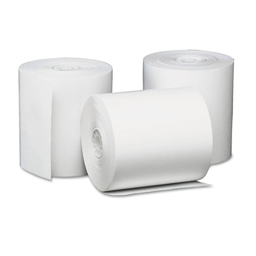 "Deluxe Direct Thermal Printing Paper Rolls, 3.13"" x 230 ft, White, 50/Carton 