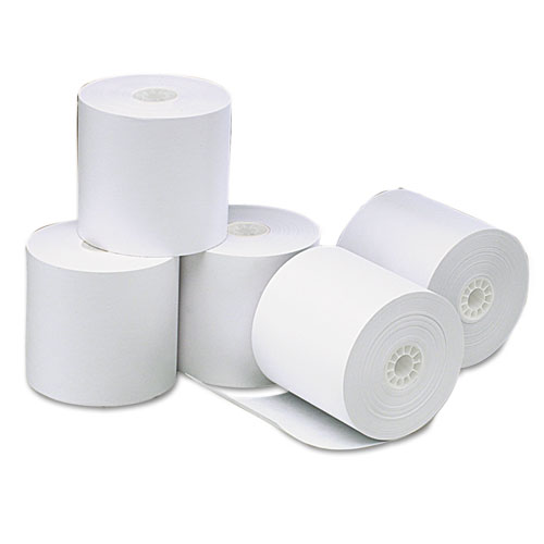 "Deluxe Direct Thermal Printing Paper Rolls, 3.13"" x 273 ft, White, 50/Carton 