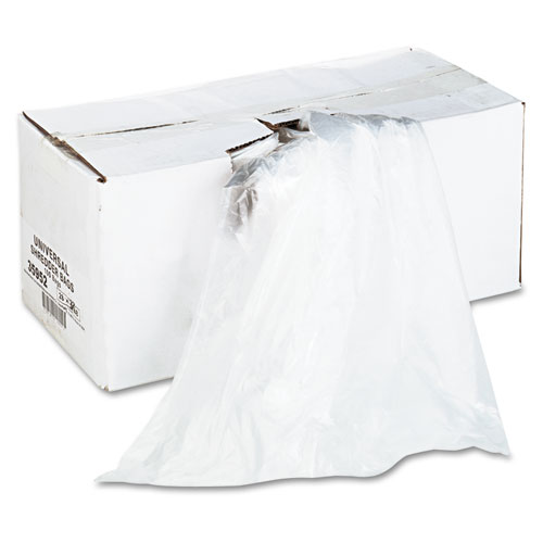 High-Density Shredder Bags, 56 gal Capacity, 100/Box | by Plexsupply