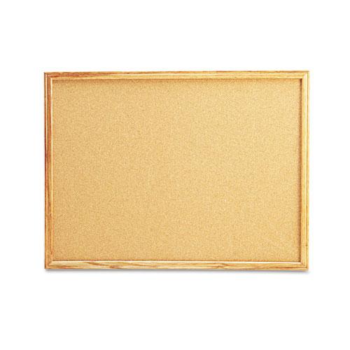 Cork Board with Oak Style Frame, 24 x 18, Natural, Oak-Finished ...