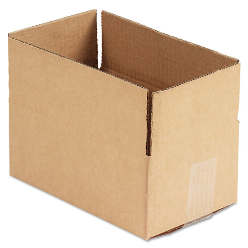 Fixed-Depth Shipping Boxes, Regular Slotted Container (RSC), 10 x 6 x 4, Brown Kraft, 25/Bundle