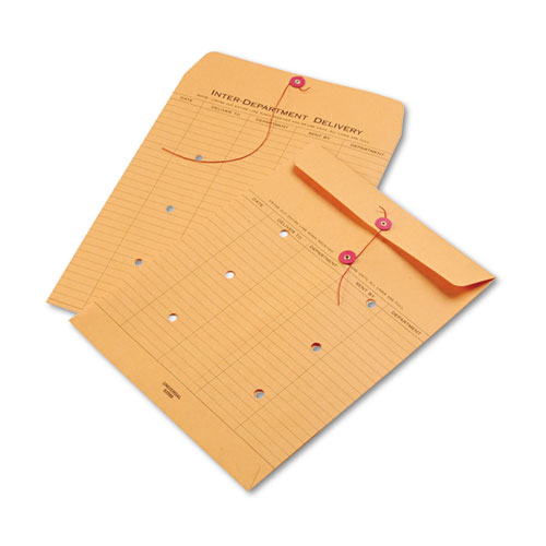 Light brown kraft string button interoffice envelope 10 for Interoffice mail envelope template