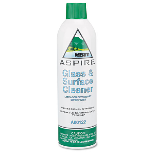 Misty® Aspire Glass & Surface Cleaner, Lemon Scent, 16oz Aerosol