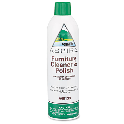 Misty® Aspire Furniture Cleaner & Polish, Lemon Scent, 16oz Aerosol