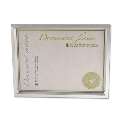 Plastic Document Frame For 8 12 X 11 Easel Back Metallic Silver