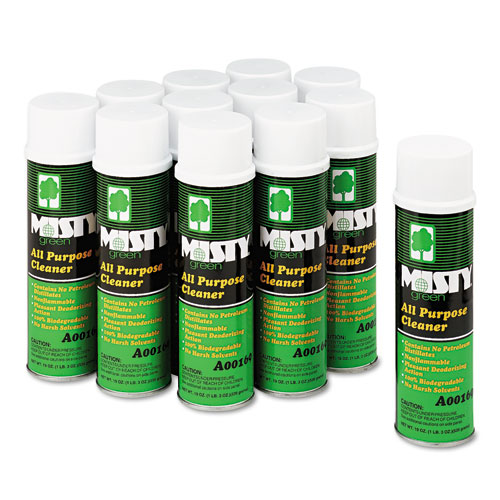 Green All-Purpose Cleaner, Citrus Scent, 19oz Aerosol, 12/Carton