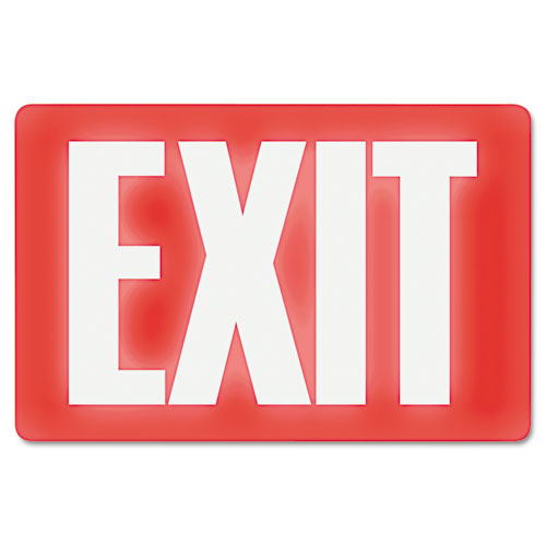 Glow In The Dark Sign, 8 x 12, Red Glow, Exit | by Plexsupply