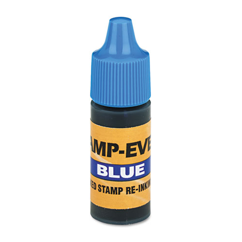 Refill Ink for Clik  Universal Stamps, 7ml-Bottle, Blue