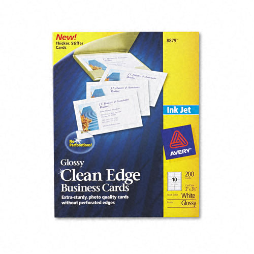 Superwarehouse avery inkjet clean edge business card avery 8879 ave8879 1 1 avery reheart Image collections