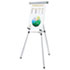 "3-Leg Telescoping Easel with Pad Retainer, Adjusts 34"" to 64"", Aluminum, Silver"