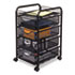 <strong>Safco®</strong><br />Onyx Mesh Mobile File With Four Supply Drawers, 15.75w x 17d x 27h, Black