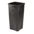<strong>Rubbermaid® Commercial</strong><br />Untouchable Square Waste Receptacle, Plastic, 23 gal, Black