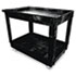 <strong>Rubbermaid® Commercial</strong><br />Service/Utility Cart, Two-Shelf, 24w x 40d x 31.25h, Black