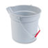 <strong>Rubbermaid® Commercial</strong><br />10 Quart Plastic Utility Pail, 10 1/2 Diameter x 10 1/4h, Gray Plastic