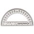 "<strong>Charles Leonard®</strong><br />Open Center Protractor, Plastic, 6"" Ruler Edge, Clear"