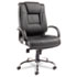 <strong>Alera®</strong><br />Alera Ravino Big and Tall Series High-Back Swivel/Tilt Leather Chair, Supports up to 450 lbs, Black Seat/Back, Chrome Base