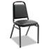 <strong>Alera®</strong><br />Padded Steel Stacking Chair, Black Seat/Black Back, Black Base, 4/Carton