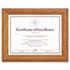 <strong>DAX®</strong><br />Document/Certificate Frame, Wood, 8-1/2 x 11, Stepped Oak