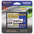 "<strong>Brother P-Touch®</strong><br />TZe Extra-Strength Adhesive Laminated Labeling Tape, 0.7"" x 26.2 ft, Black on White"